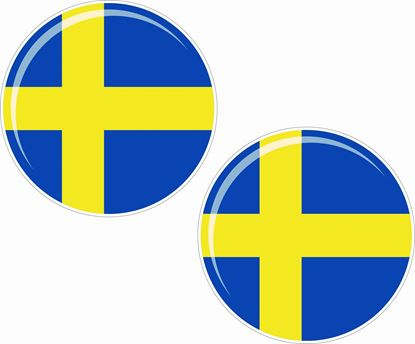 Picture of Sweden 50mm Exterior Gel Badges