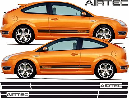 "Picture of Ford Focus ST MK2 3 Door ""Airtec"" side Stripes / Stickers"