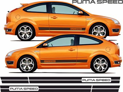 "Picture of Ford Focus RS / ST MK2 3 Door ""Puma Speed"" side Stripes / Stickers"