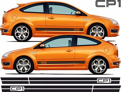 "Picture of Ford Focus ST MK2 3 Door  ""CP1"" side Stripes / Stickers"