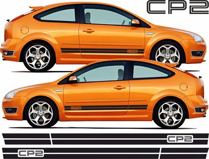 "Picture of Ford Focus ST MK2 3 Door  ""CP2"" side Stripes / Stickers"