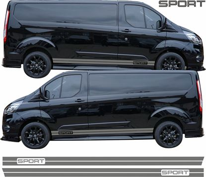 "Picture of Ford Transit Custom Long Wheel Base  ""Sport"" side Stripes / Stickers"