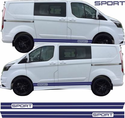 "Picture of Ford Transit Custom Short Wheel Base ""Sport"" side Stripes  / Stickers"