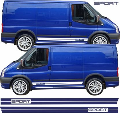 "Picture of Ford Transit MK6 / MK7  ""Sport"" side Stripes / Stickers"