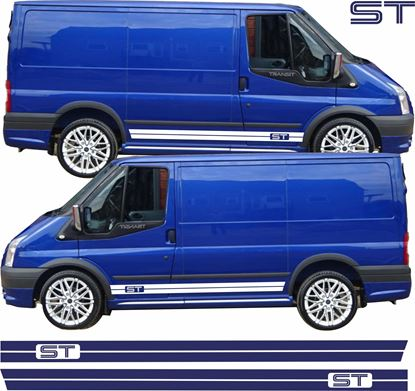 "Picture of Ford Transit MK6 / MK7  ""ST"" side Stripes / Stickers"