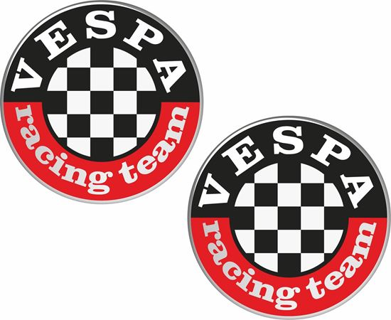 """Picture of """"Vespa Racing Team""""Decals / Stickers"""
