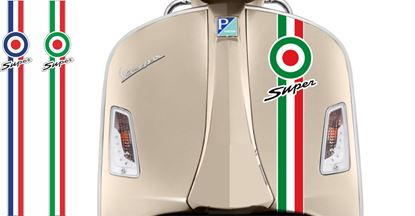 "Picture of Vespa ""Super"" front Fairing Target Stripe  / Sticker"