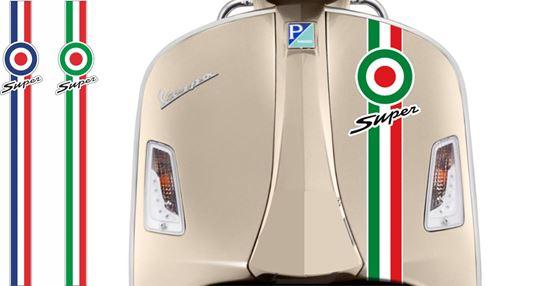 "Picture of Vespa ""Super"" front Fairing Target Stripe  / Sticker"