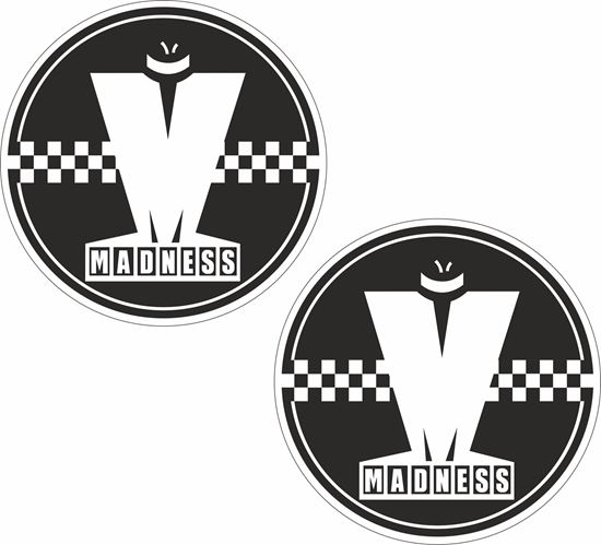 """Picture of """"Madness"""" Decals / Stickers"""