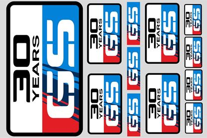 "Picture of ""30 Years GS""  BMW  Sticker Sheet"