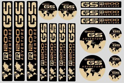 "Picture of ""R 1200GS Adventure"" BMW  Sticker Sheet"