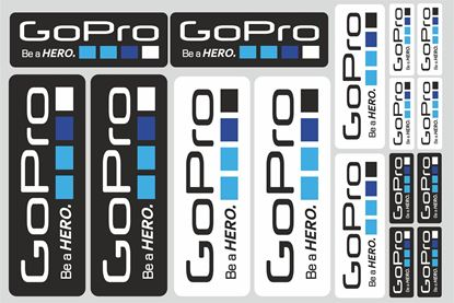 "Picture of ""GoPro..."" Track and street race sponsor Sticker Sheet"