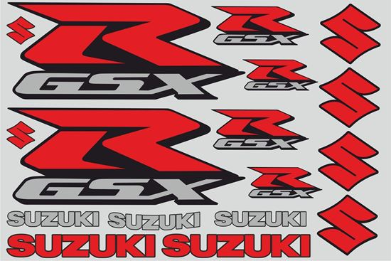 "Picture of ""Suzuki GSX-R"" Track and street race sponsor Sticker Sheet"