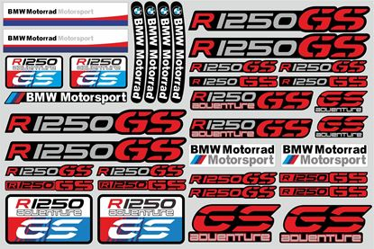 "Picture of ""R 1250GS "" BMW  Sticker Sheet"