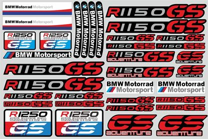 "Picture of ""R 1150GS "" BMW  Sticker Sheet"