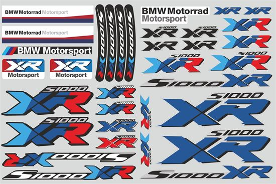 """Picture of """"S1000 XR """" BMW  Sticker Sheet"""