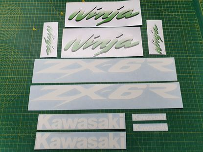 Picture of Kawasaki Ninja  ZX-6R  Replacement Decals / Stickers