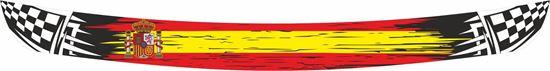"""Picture of """"Spanish"""" Helmet Visor Strip"""