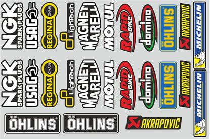 "Picture of ""Brands""  Track and street race sponsor Sticker Sheet"