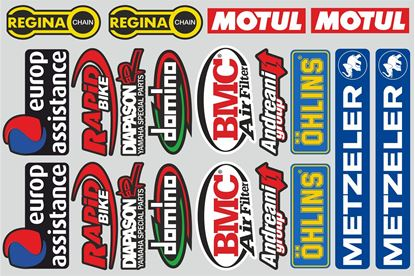 Picture of Mixed Logo Track and street race sponsor Sticker Sheet