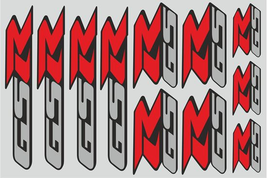 "Picture of ""Suzuki GSR"" Track and street race sponsor Sticker Sheet"