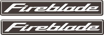 Picture of Honda CBR Fireblade 110mm Gel Badges