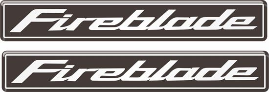 Picture of Honda CBR Fireblade 110mm Gel Badges