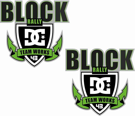 Picture of DC Block Rally 43 panel  Decals / Stickers