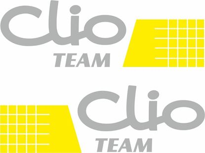 "Picture of Renault ""Clio Team"" Decals / Stickers"