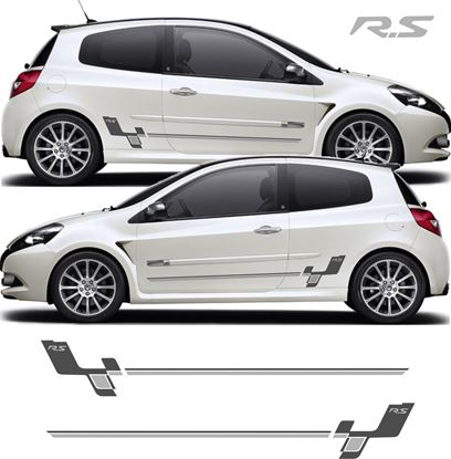 "Picture of Renault Clio R27 ""R.S"" Side Stripes / Stickers"