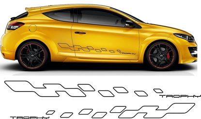 "Picture of Renault Megane ""Trophy"" MK3 & MK4 full side  Decals  / Stickers"