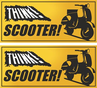 "Picture of ""Think Scooter"" Decals / Stickers"