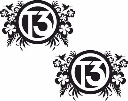 "Picture of ""T3"" Florals General panel  Decals / Stickers"
