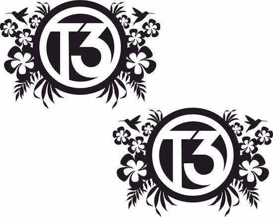 """Picture of """"T3"""" Florals General panel  Decals / Stickers"""
