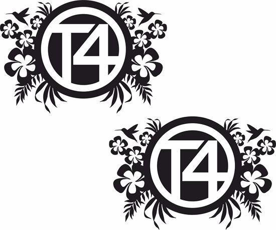 "Picture of ""T4"" Florals General panel  Decals / Stickers"