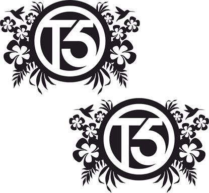 "Picture of ""T5"" Florals General panel  Decals / Stickers"