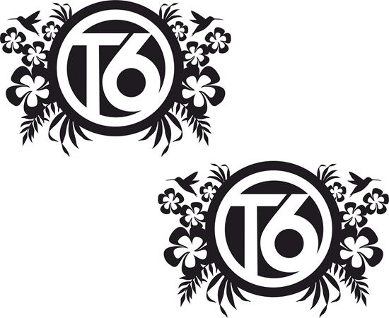 "Picture of ""T6"" Florals General panel  Decals / Stickers"