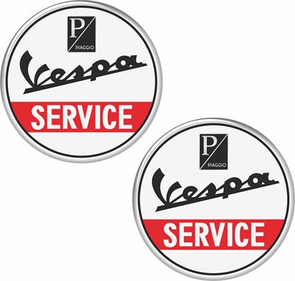 "Picture of ""Vespa Service"" Decals / Sticker"