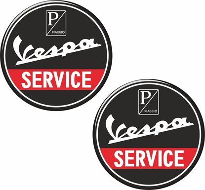 "Picture of ""Vespa Service"" Decals / Stickers"