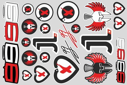 "Picture of ""Jorge Lorenzo 99""  Track and street race sponsor Sticker Sheet"