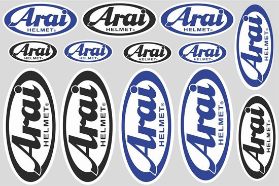 """Picture of """"Arai""""  Track and street race sponsor Sticker Sheet"""