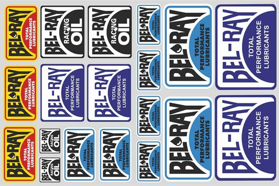 """Picture of """"Bel-Ray""""  Track and street race sponsor Sticker Sheet"""