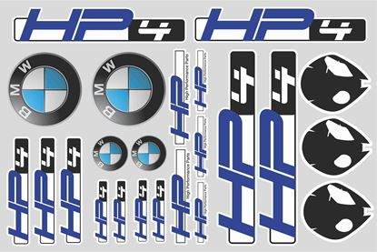 "Picture of ""HP4"" BMW  Sticker Sheet"