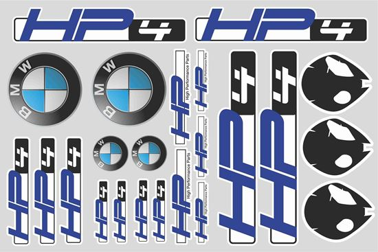 """Picture of """"HP4"""" BMW  Sticker Sheet"""