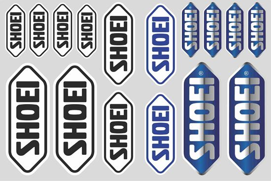 """Picture of """"Shoei"""" Track and street race sponsor Sticker Sheet"""