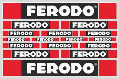 "Picture of ""Ferodo""  Track and street race sponsor Sticker Sheet"