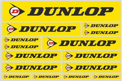 "Picture of ""Dunlop""  Track and street race sponsor Sticker Sheet"