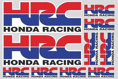 "Picture of ""HRC Honda Racing""  Track and street race sponsor Sticker Sheet"