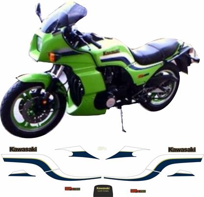 Picture of Kawasaki GPZ 750 1983 - 1984 full replacement Decals / Stickers
