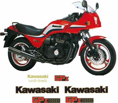 Picture of Kawasaki GPZ 1100  1983 - 1984 replacement Decals / Stickers